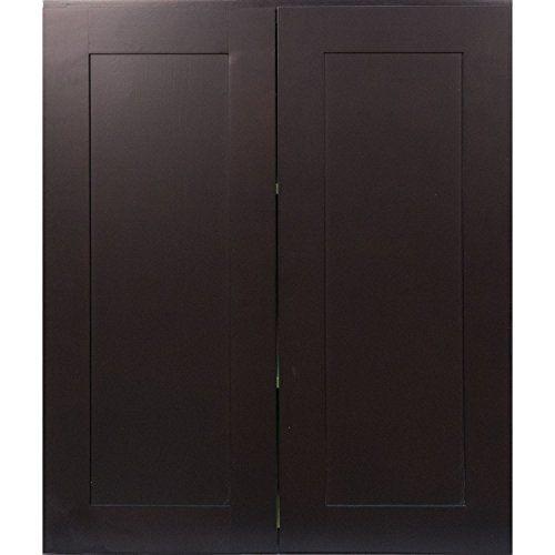 Delicieux Kitchen Cabinets Ideas | Everyday Cabinets 27 Inch Double Door Wall Cabinet  In Shaker Espresso With