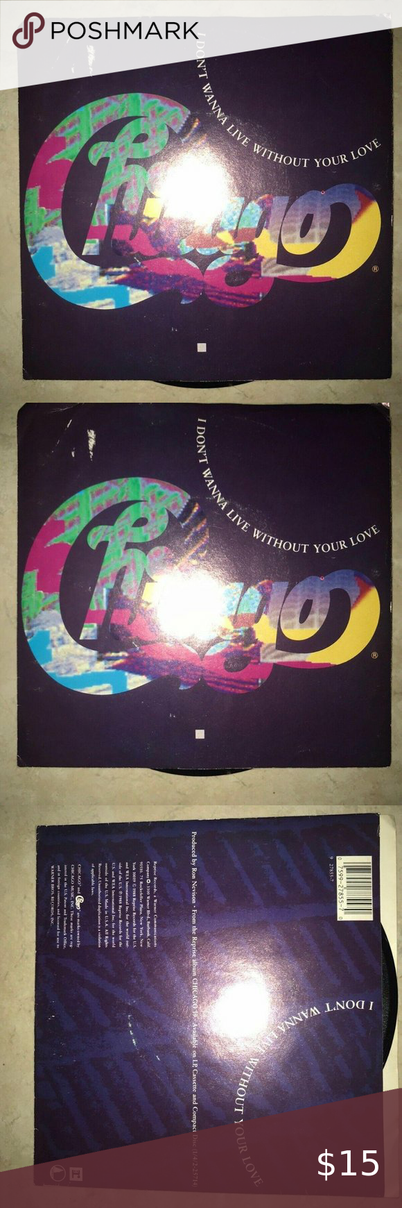 Chicago Vinyl Record 45 I Dont Wanna Live Without In 2020 Vinyl Records Vinyl Records