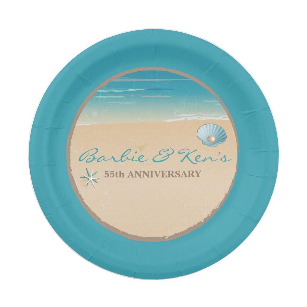 Beach Ocean Party Paper Plate Zazzle Com Ocean Party Party