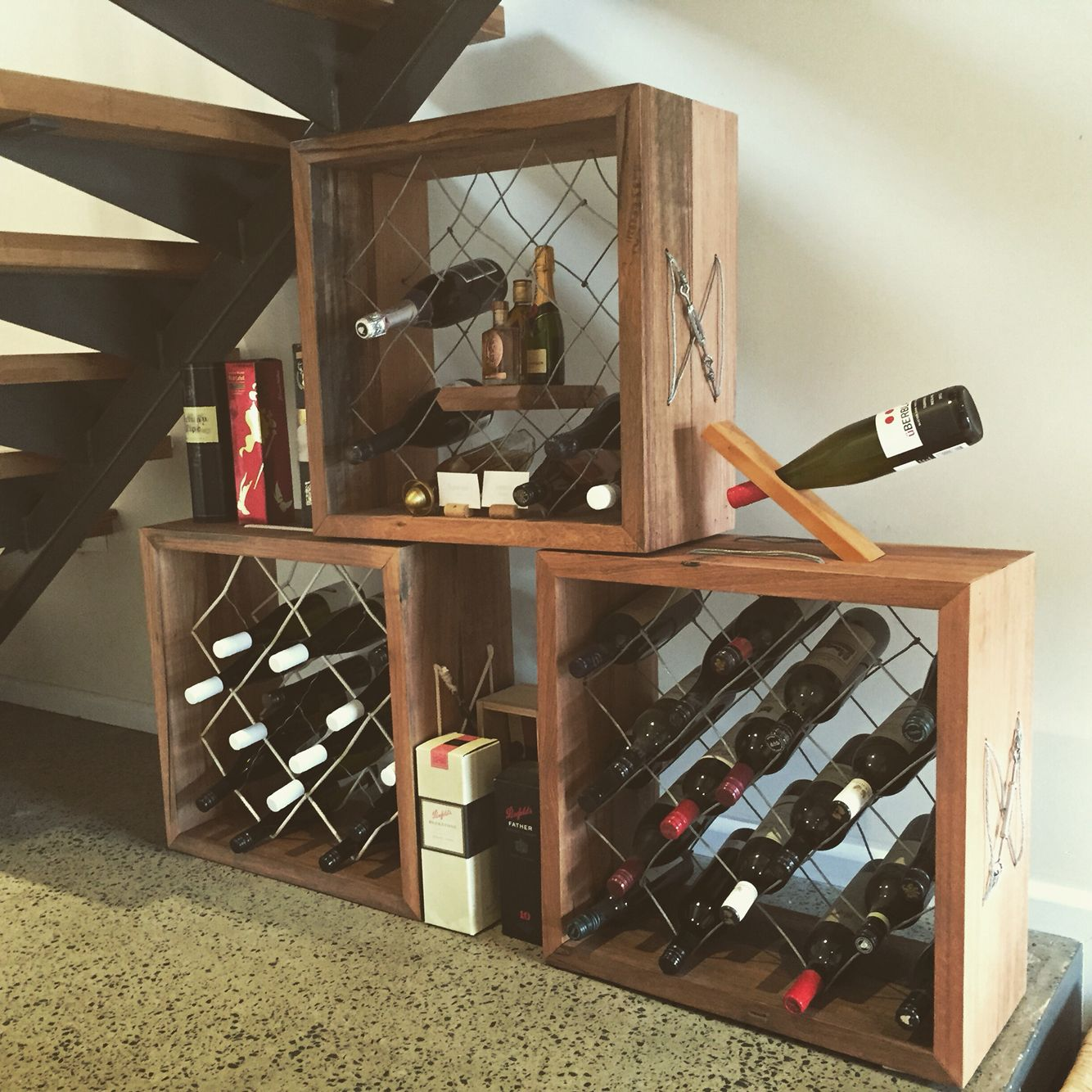 Wire rope wine racks - by Tim Brewer | Creations | Pinterest