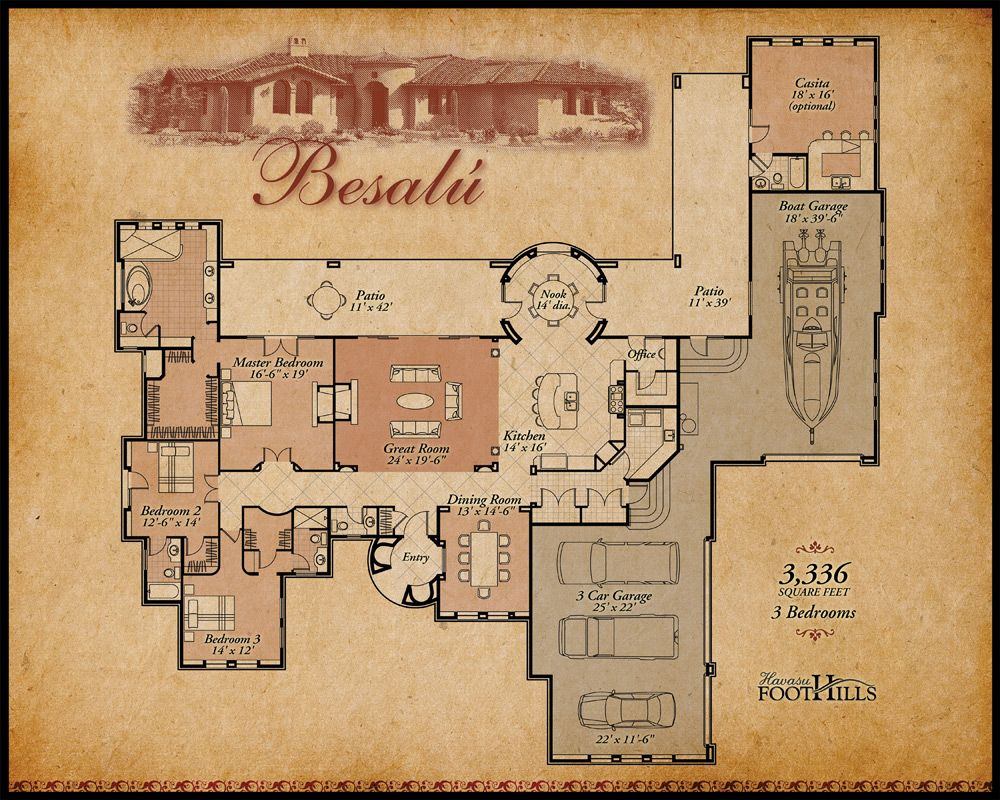 Besalu Floor Plan Hi Jpg 1 000 800 Pixels Hacienda Style Homes Hacienda Homes Mexican Style Homes