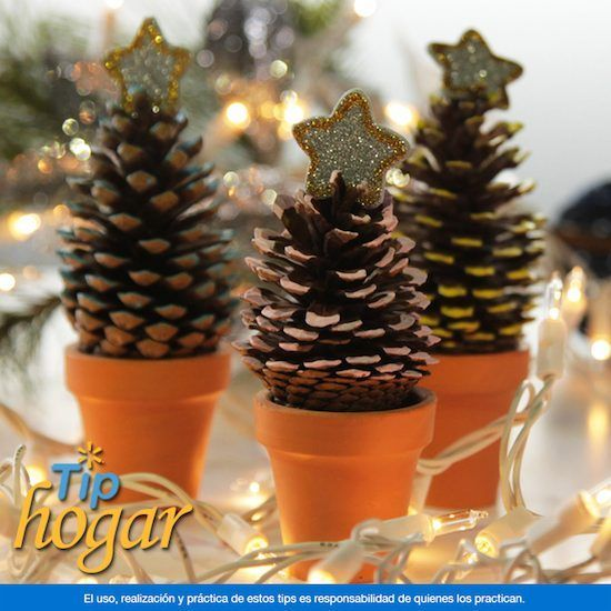 Resultado de imagem para adornos navide os con cocos de - Adorno navideno con pinas ...