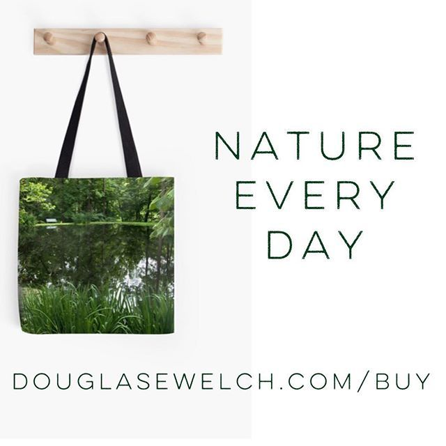 """Get this """"By the pond"""" tote and much more at http://ift.tt/1RR5epK - Cards pillows smartphone coverstoo #nature #naturelover #outdoors #pond #green #ohio"""