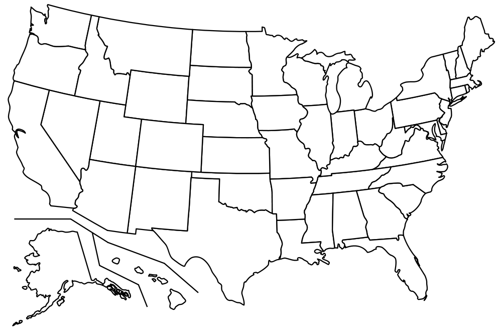Blank Us Map Google Search History Pinterest - Blank us map with states