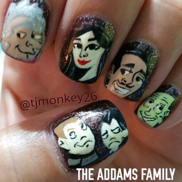 Addams Family Nails