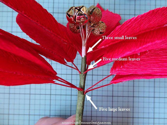 Crepe Paper Poinsettia Red Leaves Jpg 640 480 Paper Flowers Handmade Flowers Paper Crepe Paper