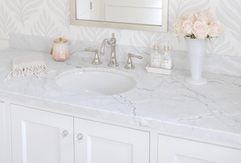 How To Choose The Best Countertop For Your Home Caroline On Design In 2020 Marble Bathroom Bathroom Countertop Materials Marble Bathroom Counter