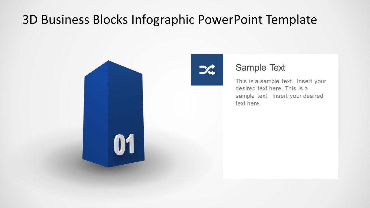 animated 3d business 1 block diagram for powerpoint slidemodel [ 1280 x 720 Pixel ]