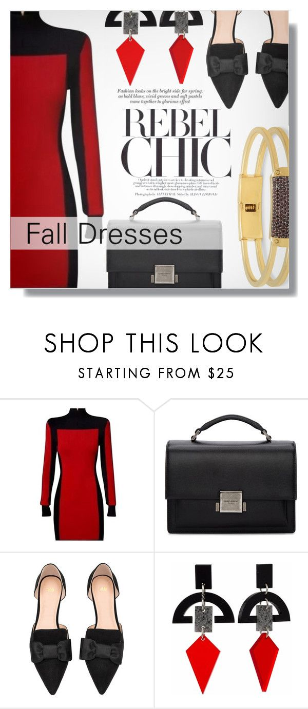 """Fall Dresses"" by xwafflecakezx ❤ liked on Polyvore featuring Yves Saint Laurent, H&M, November, Toolally and Henri Bendel"