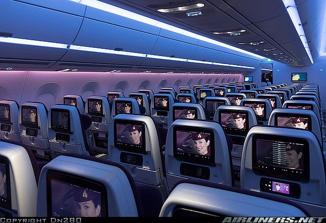 Qatar Airways Economy Cabin On Airbus A350 941