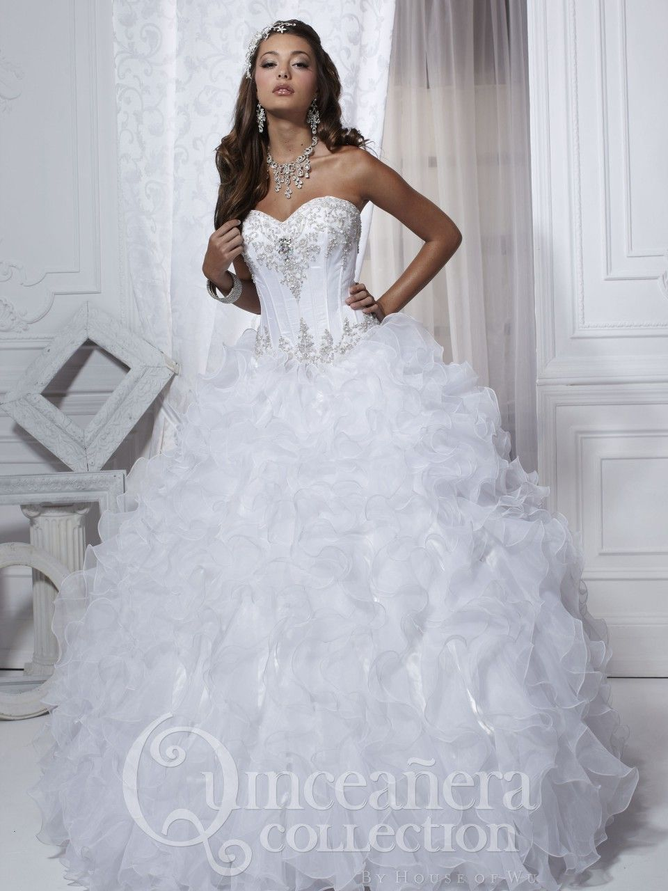 Looking for a white Quinceanera dress?? Like us on Facebook to see ...