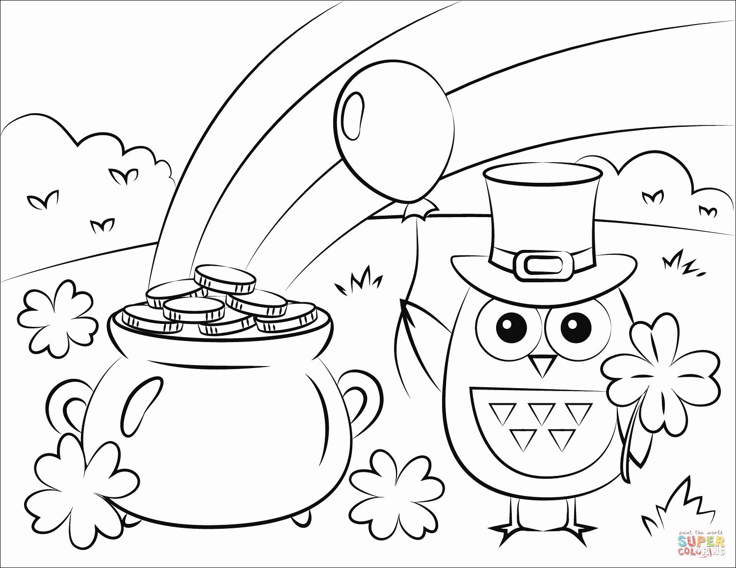 32 St Patricks Day Coloring Page in 2020 (With images