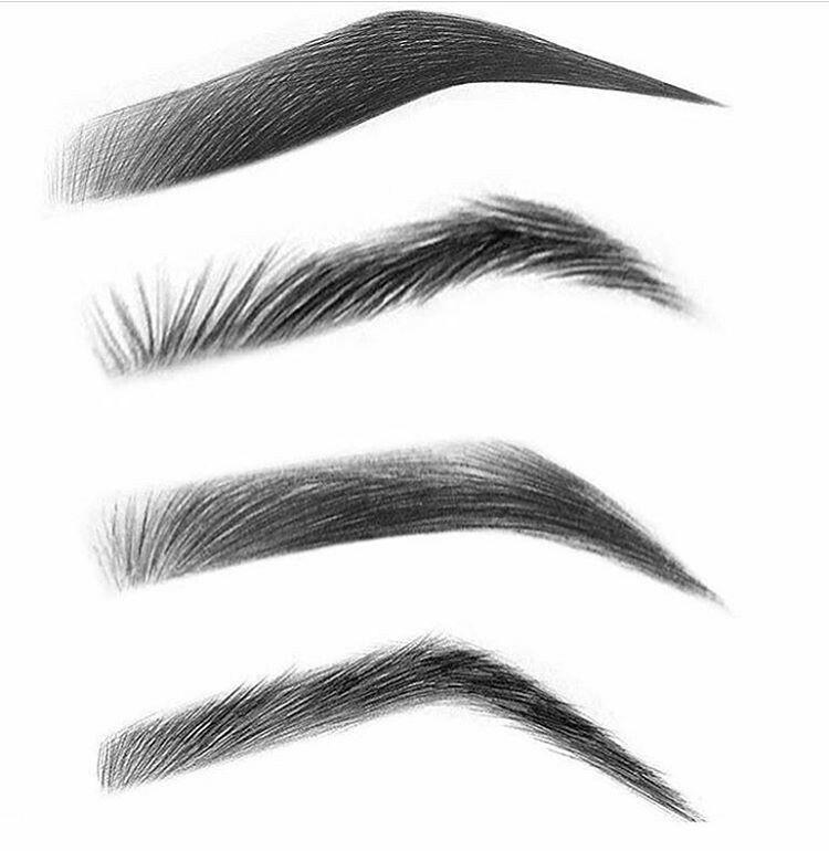 Brown types | Eyebrows sketch, Glitter eyebrows, Eyebrow ...