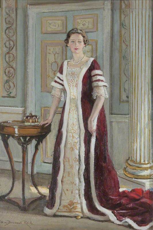 "William Bernard Reid, ""Edith Teresa Hulton (1890-1972), Lady Berwick,"" 1937. The portrait depicts Lady Berwick in the peeress's robes that she wore for the coronation of George VI in 1937."