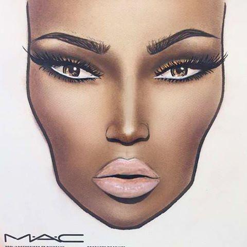 by anasafazada …  artistry makeup mac face charts