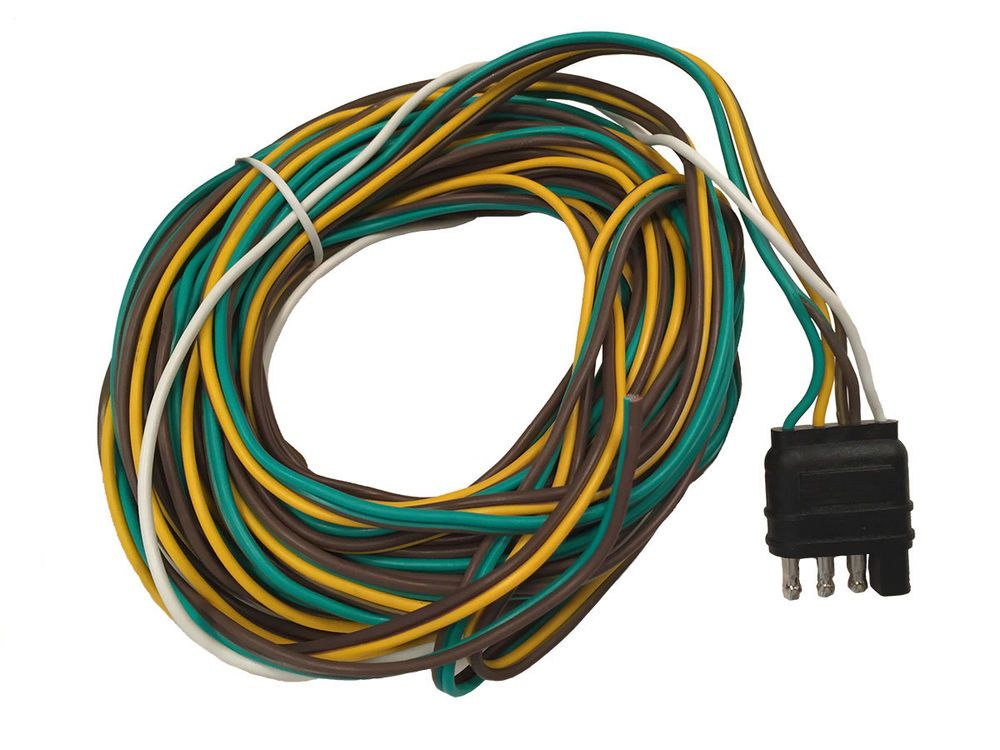 Trailer Wiring Harness,4flat way Connector,30 Ft Long,3ft