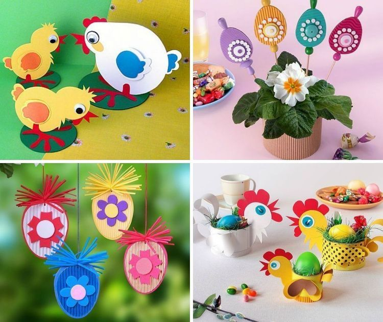 Activit s pour enfants 20 id es de bricolage pour p ques p ques oeufs deco de paques et - Idee bricolage paques ...