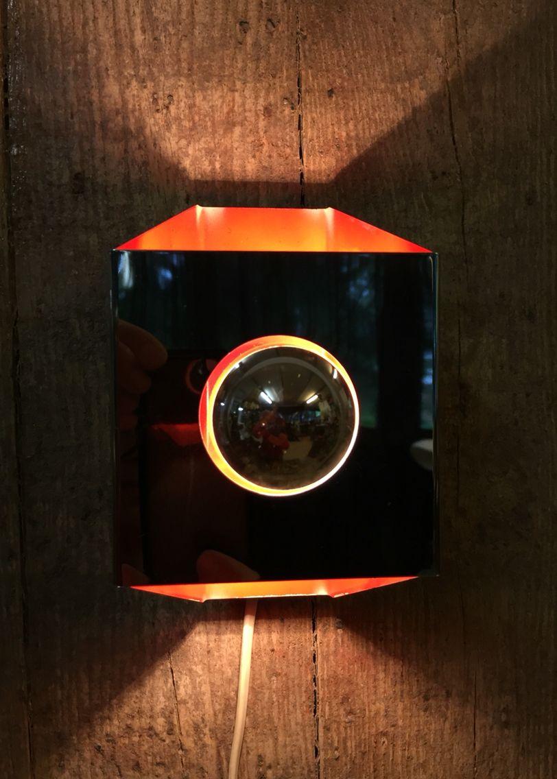 Vintage wandlamp Oranje retro wandlamp