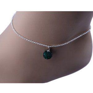 Kadima Swarovski Elements Crystal Disco Ball 10mm Bracelet,Bracelet Length 8.5 Inches,Emerald  http://electmejewellery.com/jewelry/anklets/kadima-swarovski-elements-crystal-disco-ball-10mm-braceletbracelet-length-85-inchesemerald-ca/