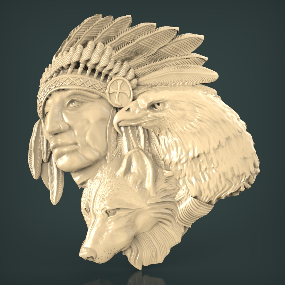 3D STL Model for CNC and 3d Printer BasRelief (1007) in
