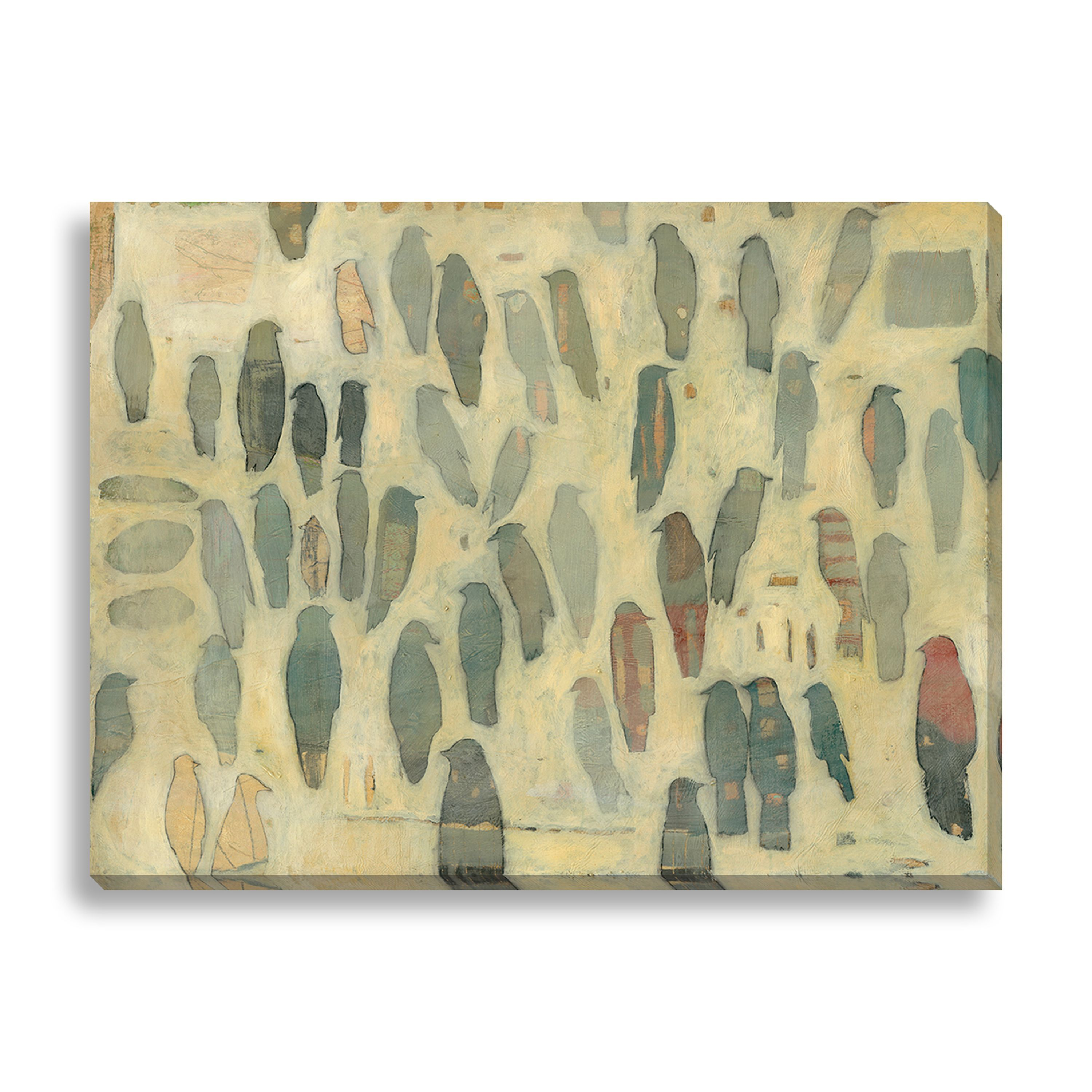 Gallery Direct Leslie Barron \'White Aviary\' Canvas Gallery Wrap ...