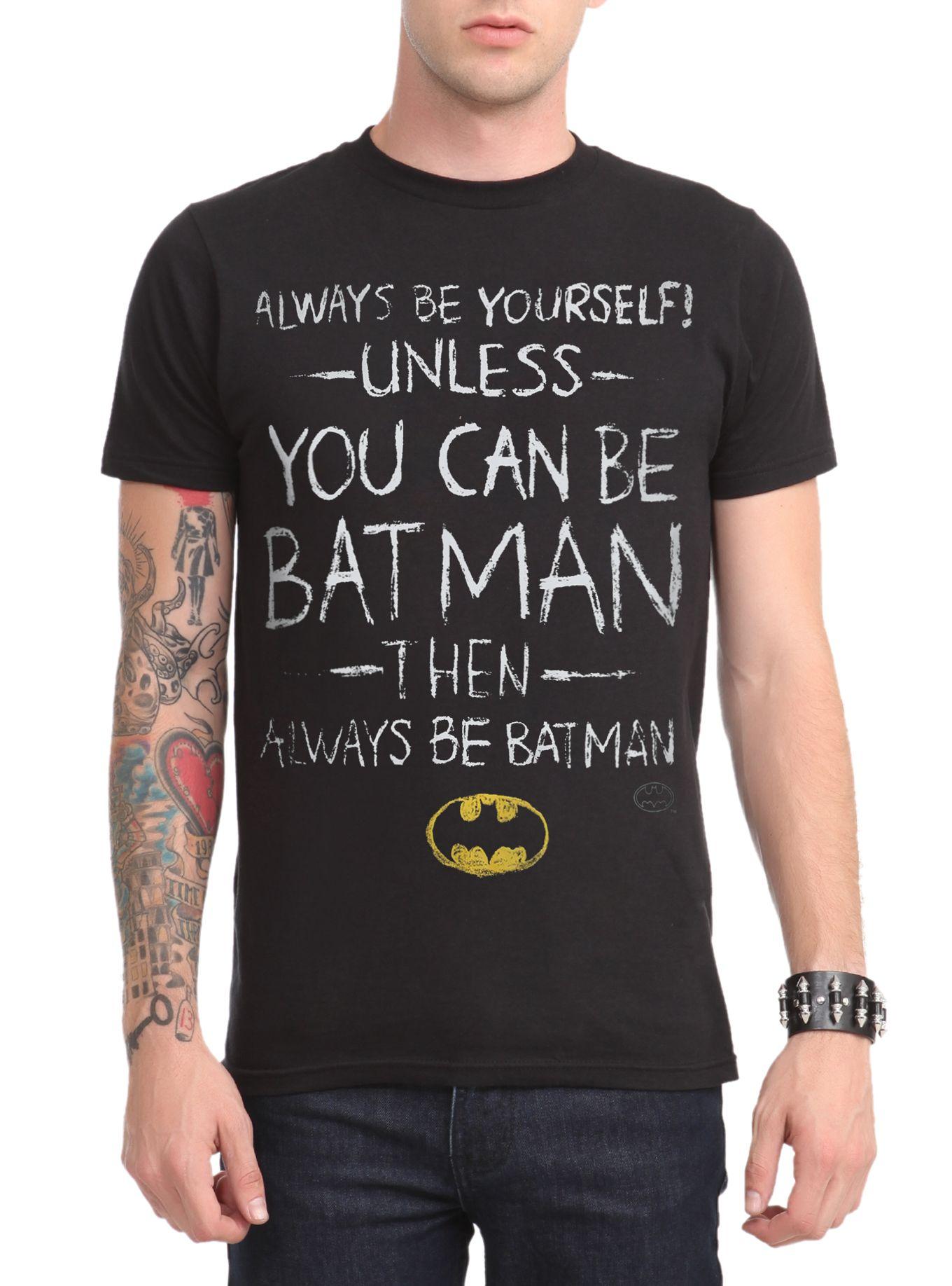 Dc Comics Batman Be Yourself T Shirt Shark T Shirt T Shirt Shirts