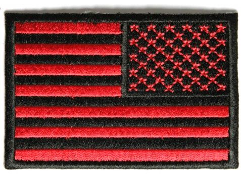 red black us flag reversed iron on patch 6a81ddc184f4