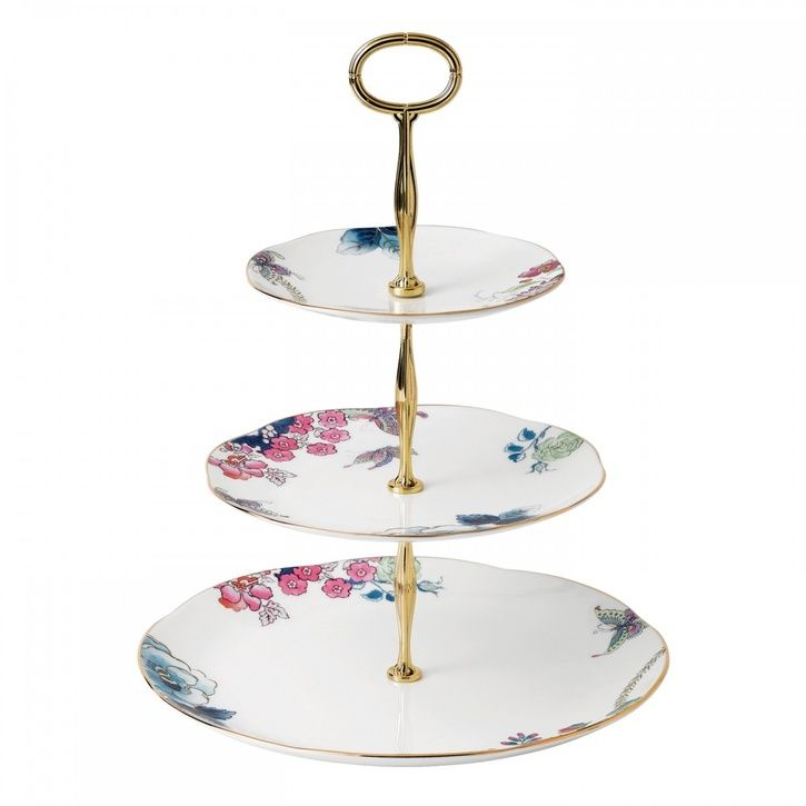Wedgwood - Harlequin 'Butterfly Bloom' Tea Story Collection - 3-Tier Cake Stand