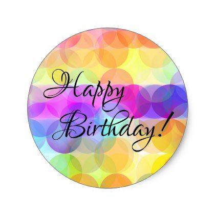 bubbles happy birthday stickers zazzle com in 2020 birthday stickers happy birthday cards happy birthday images bubbles happy birthday stickers