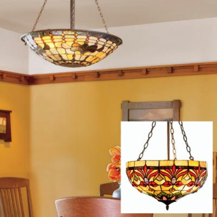 Brighten A Room With Dark Woodhanging A Stainedglass Lamp Amazing Stained Glass Light Fixtures Dining Room Decorating Inspiration