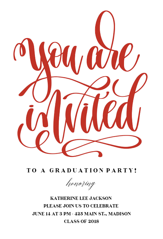 You Are Invited Graduation Party Invitation Template Free Greetings Island Graduation Party Invitations Templates Graduation Party Invitations Diy Party Invite Template