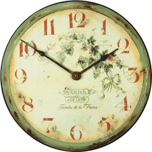 Roger Lascelles French Vineyard Wall Clock, 14.2-Inch - http://clocks.pinterestbuys.com/kitchen/roger-lascelles-french-vineyard-wall-clock-14-2-inch/