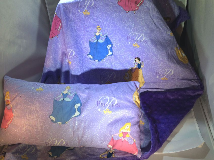 Nap time Blanket and Pillow Set   Toddler and Kids Minky Disney Princess Print Blanket   Personalization Available by 2KrazyLadiesCrafts on Etsy