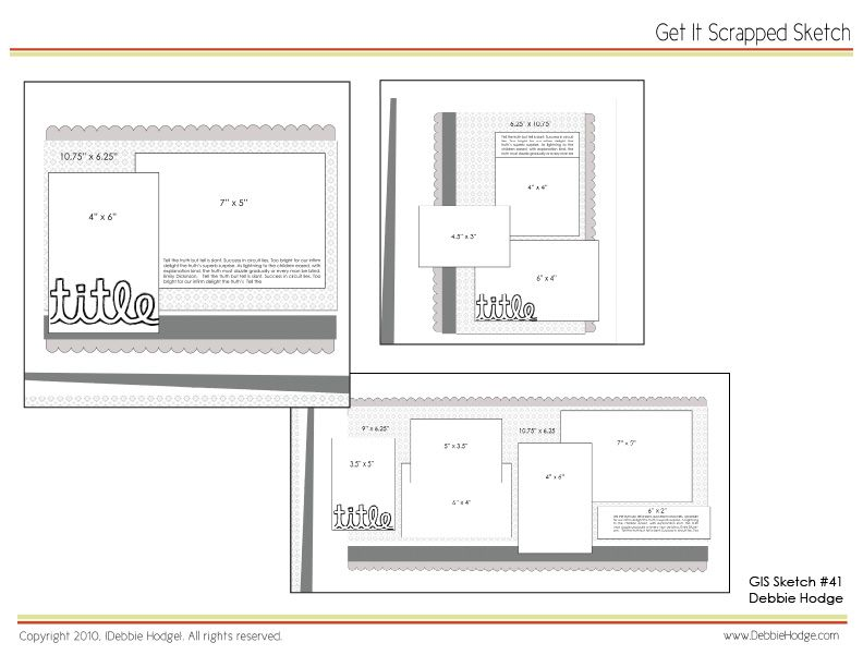 Scrapbook Page Sketch and Template Bundle: March 19 2010 | Pinterest ...