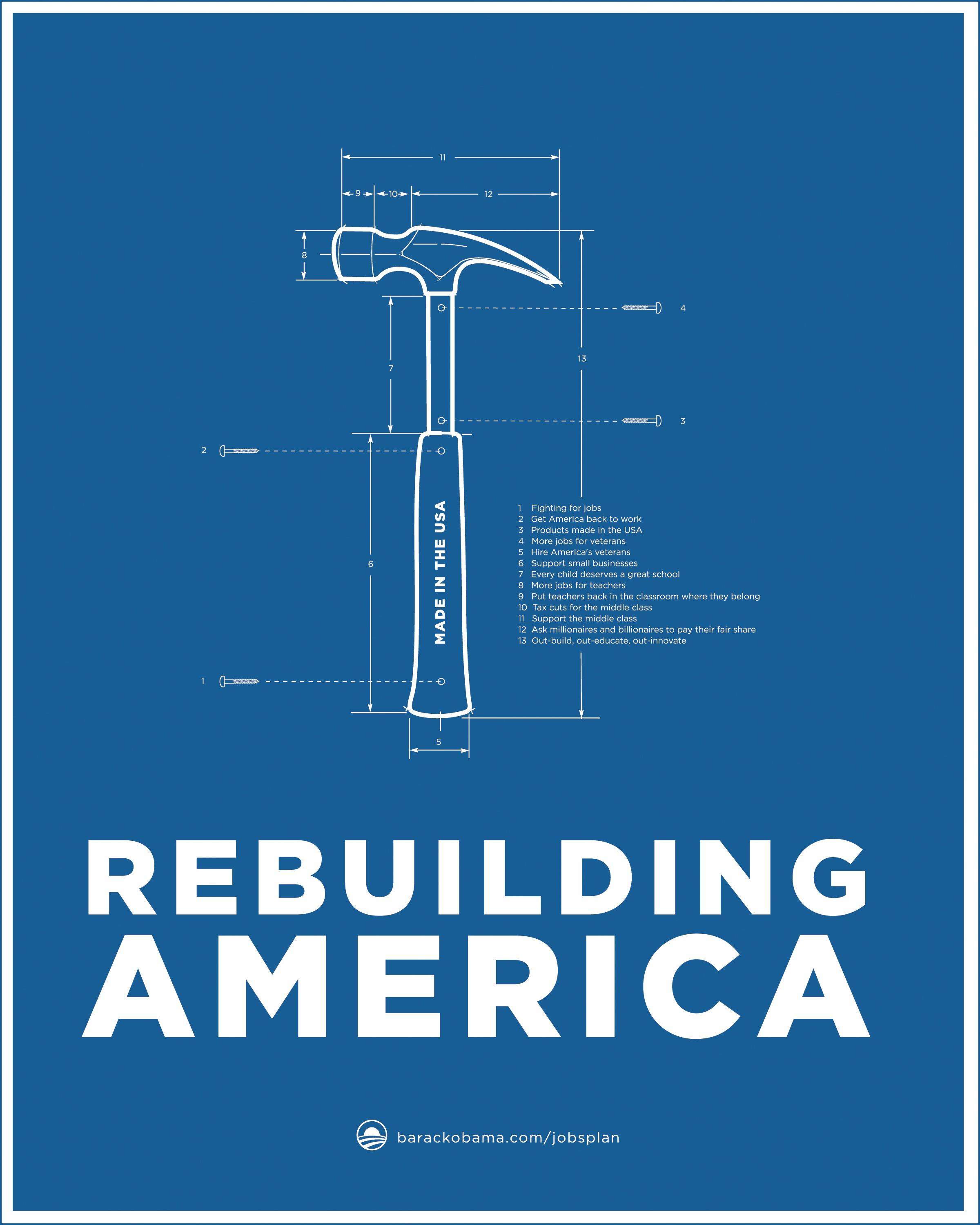 Obama jobs act blueprint poster series hammer by aram asarian at obama jobs act blueprint poster series hammer by aram asarian at aram designs malvernweather