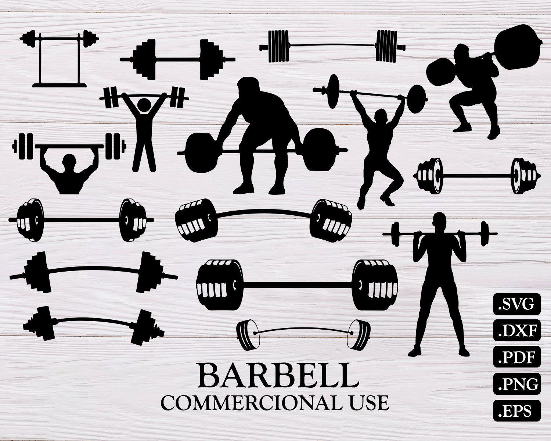 18+ Gym Svg,Gym Svg File,Gym Dxf,Kettlebell Svg,Barbell Svg,Dumbbell Svg PNG