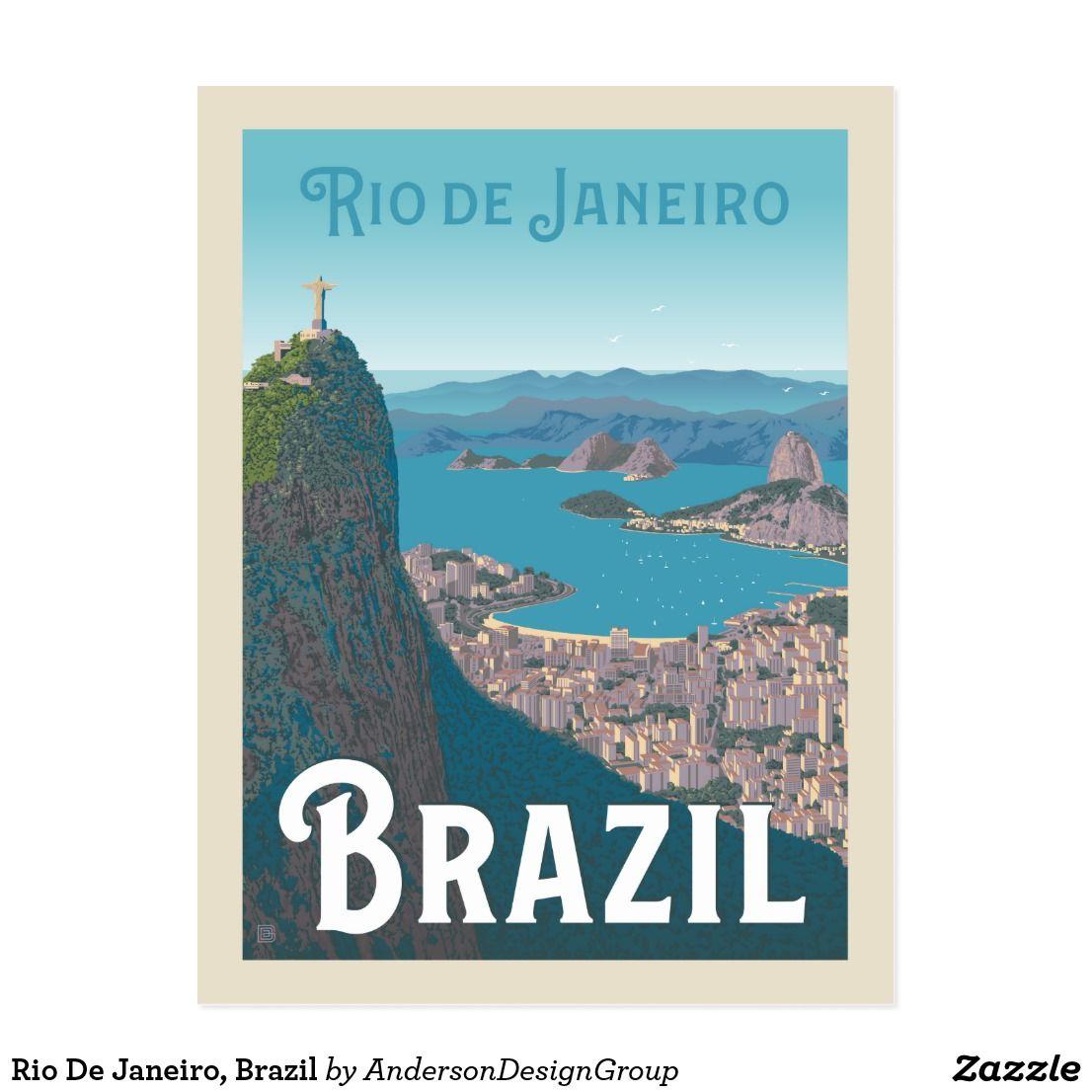 Rio De Janeiro Brazil Postcard Zazzle Com Rio De Janeiro