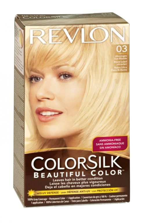 Revlon Colorsilk Hair Colour 03 Ultra Light Sun Blonde Hair Color Revlon Colorsilk Revlon Colorsilk Hair Color