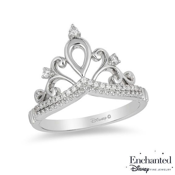 Zales 1/5 CT. T.w. Diamond Tiara Ring in Sterling Silver