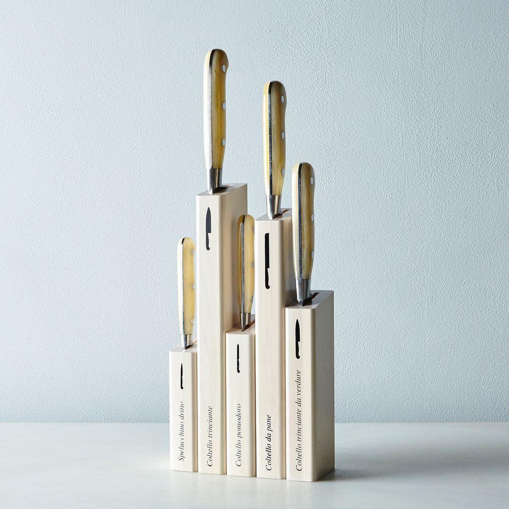 Berti White Handled Italian Kitchen Knives