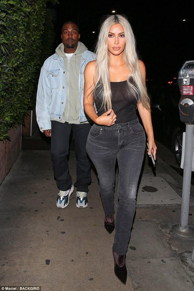 new product cebaf b8631 Kim Kardashian wearing Yeezy Season 5 Velvet Ankle Boots