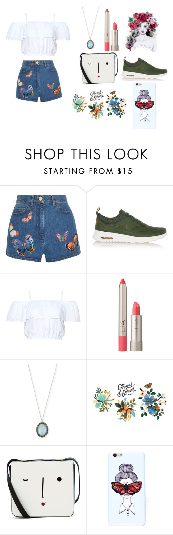 """""""Untitled #249"""" by dreamarie151 on Polyvore featuring Valentino, NIKE, Ilia, Armenta, Tattly, Lulu Guinness, Valfré, women's clothing, women and female"""
