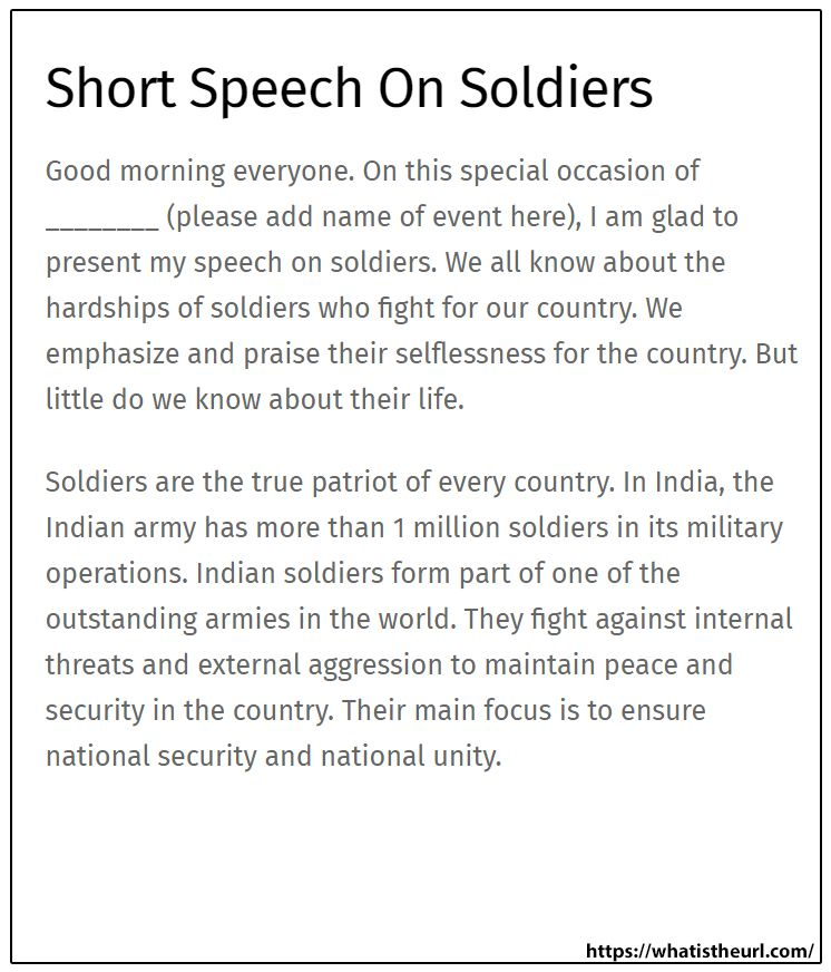 Short Speech On Soldier English Phrase An Event That Changed My Life Essay