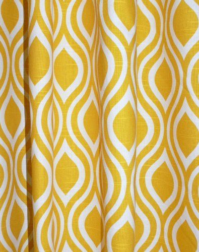 Yellow And White Trellis Drape One Rod Pocket Curtain Panel 96 Inches Long X 50 Window DrapesWindow CoveringsDining Room
