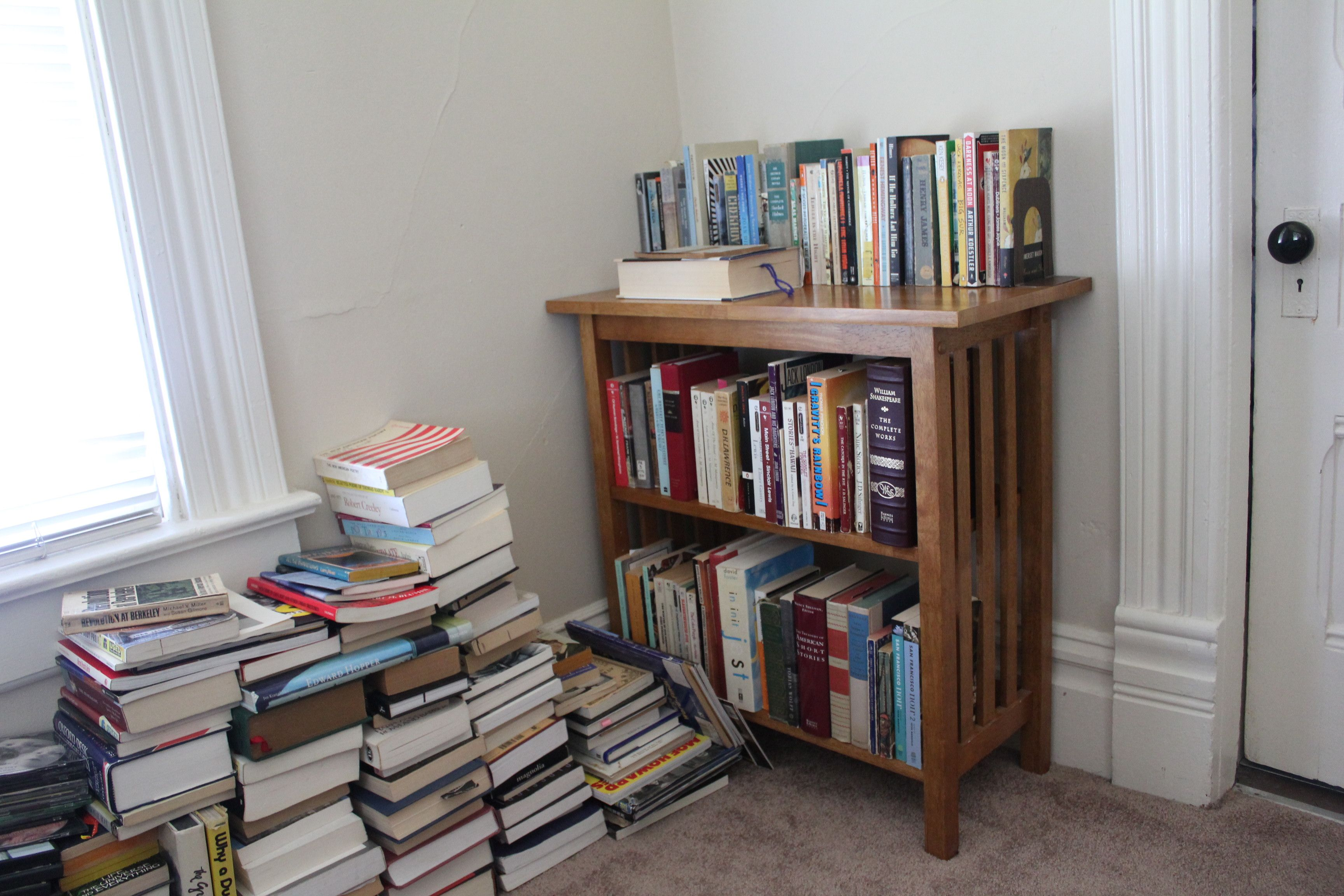 At least the novels have a home.  Now what to do with all the history books.