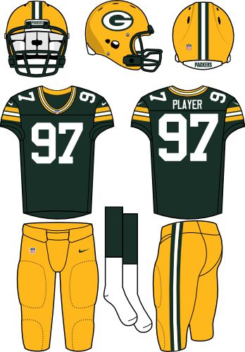 Green Bay Packers 2012 Home Jersey Nfl Outfits Sports Uniforms Football Uniforms