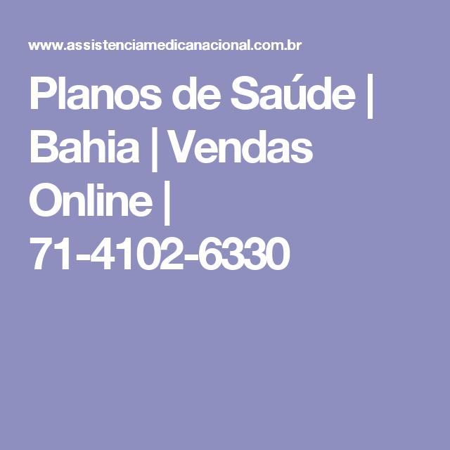 Planos de Saúde | Bahia | Vendas Online | 71-4102-6330