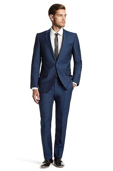 Slim fit anzug amaro heise von hugo blau summer wedding groom suits pinterest anz ge - Hochzeitsanzug hugo boss ...
