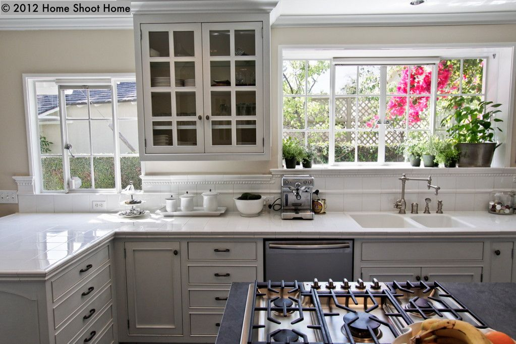 Pasadena Colonial Kitchen Remodel Colonial Kitchen White