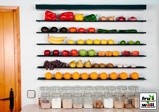 Frutero colgante para la pared - Decoratrix | Blog de decoración, interiorismo y diseño